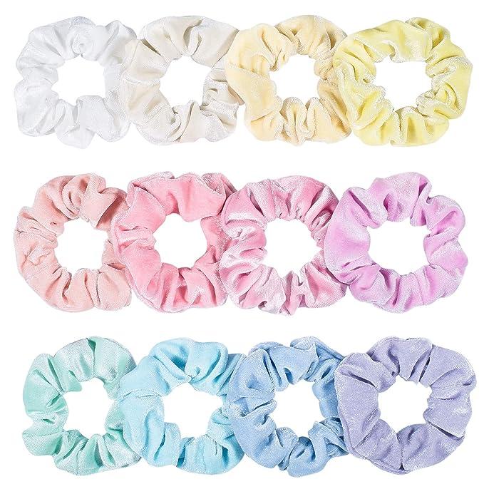 Accessories hair scrunchies,handmade Fun White Spots On Lilac
