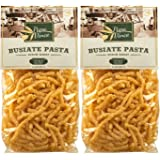 Busiate Pasta Sicily Italy Artisan - Made with Ancient Italian/Sicilian Semolina | NO GMO | Whole Grain | NO ENRICHED | AL DENTE Macaroni Holds Seafood Sauce Like a Magnet 1 kg (2-Packs)