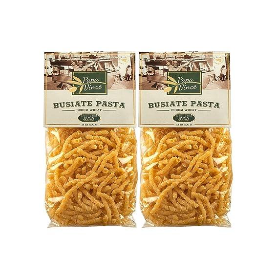 Busiate Pasta Sicilia Italia artesanal - hecho con semillas antiguas por los lugareños | NO OGM