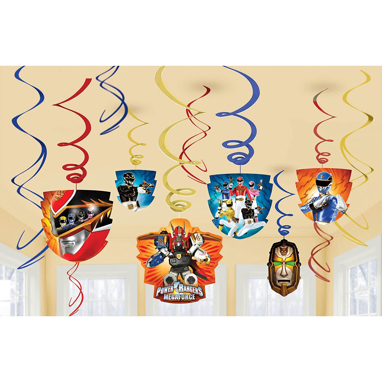 Amazon.com: Power Rangers Megaforce Hanging Swirls Party Decoration ...