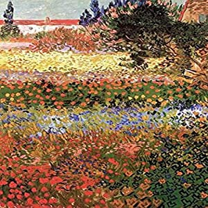 Flowering Garden with Path Poster Print by Vincent Van Gogh (18 x 24)