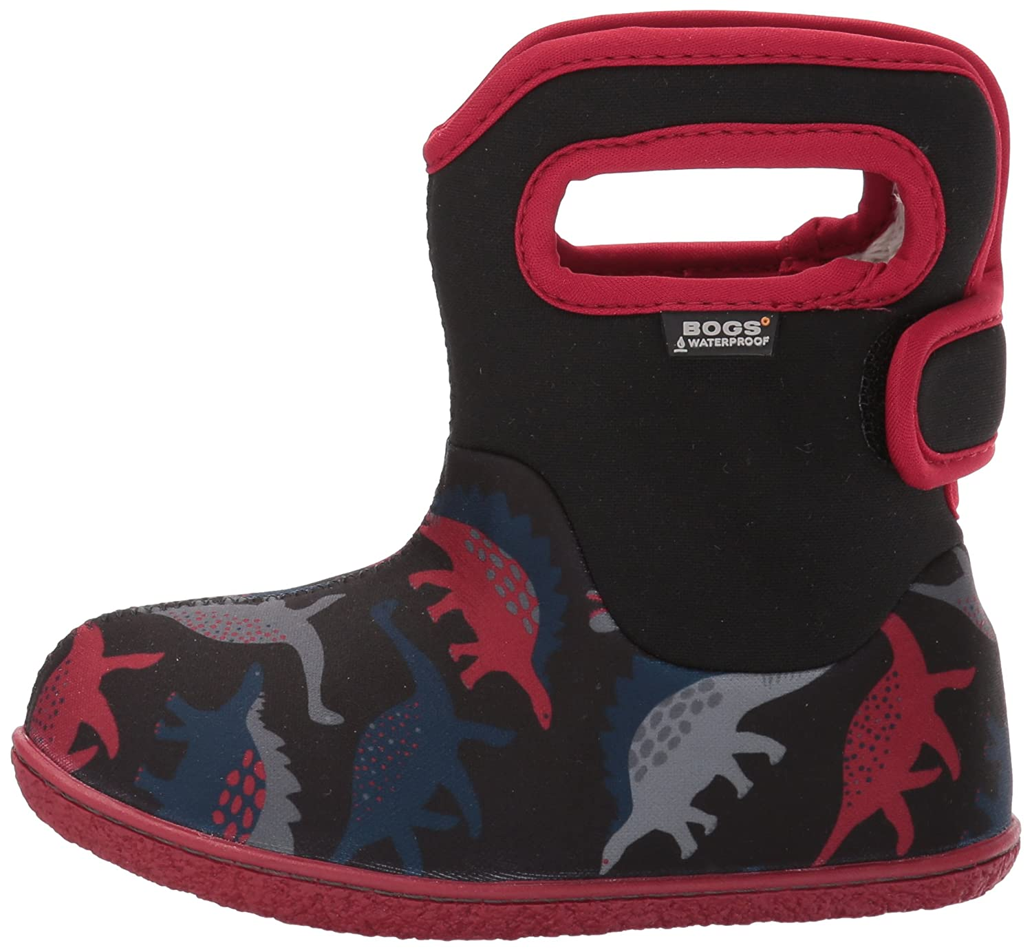 Bogs Kid's Baby Dino Boot, Black/Multi, 8 M US Toddler Bogs Kid's Baby Dino Boot 72165I-009