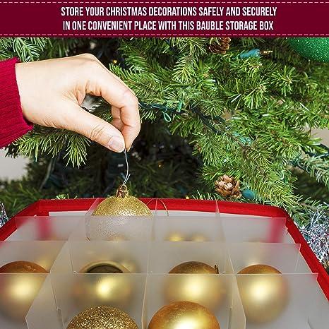 Schachteln f/ür Weihnachtskugeln Und Weihnachtsdekoration Weihnachtskugeln Aufbewahrung Gr/ün Weihnachtskugeln Aufbewahrungsbox mit Papier Ablagen f/ür 64 Kugeln