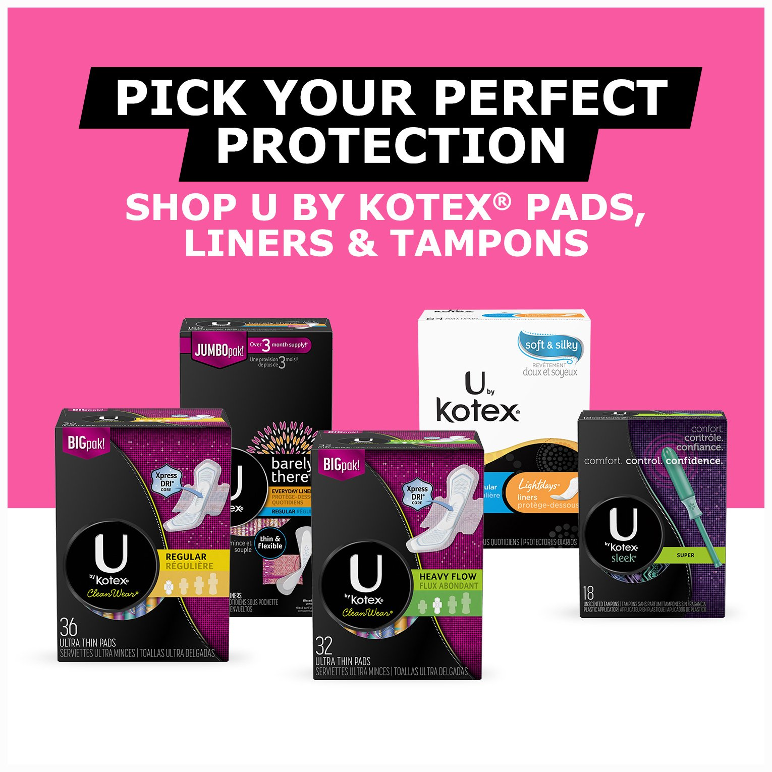 U by Kotex Barely There Long Liners, 90 Count, Pack of 5 (450 Count Total) by U by Kotex (Image #7)