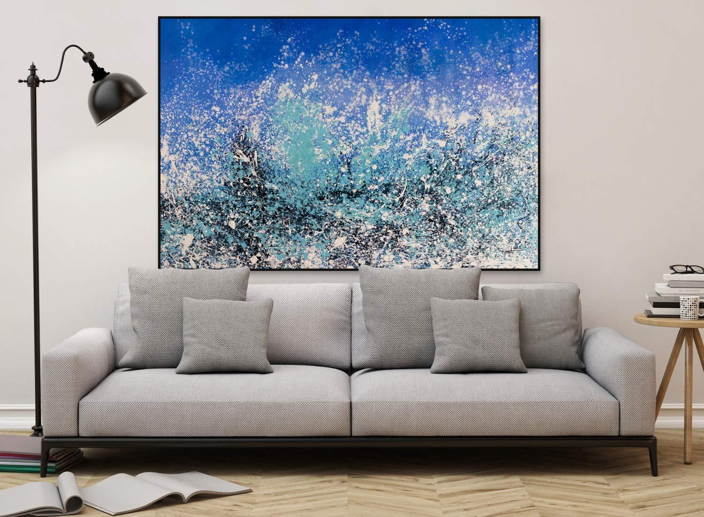 Kunstloft® Extraordinario Cuadro al óleo Elusive Gusts ...