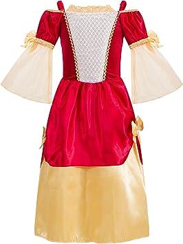 Katara - Disfraz de princesa medieval de niña, traje de doncella ...