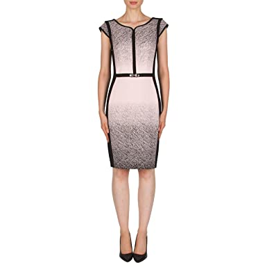 Dress for Women, Evening Cocktail Party, Midnight, polyester, 2017, 10 12 14 16 Joseph Ribkoff