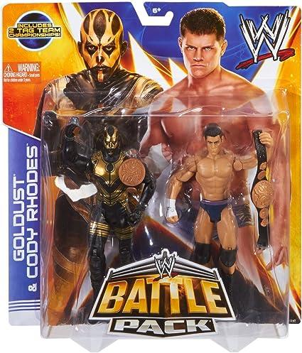WWE - Paquete Figuras de Acción de Luchadores Battle Pack 20 - Goldust y Cody Rhodes: Amazon.es: Juguetes y juegos