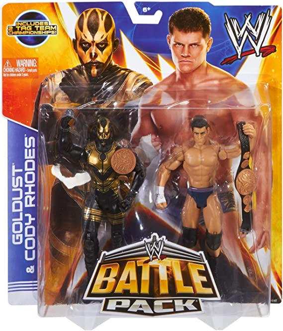 CODY RHODES & GOLDUST - WWE BATTLE PACKS 29 WWE TOY WRESTLING ACTION FIGURE 2-PACKS (WITH FOLDING CHAIR - COLORS MAY VARY) by MATTEL: Amazon.es: Juguetes y juegos