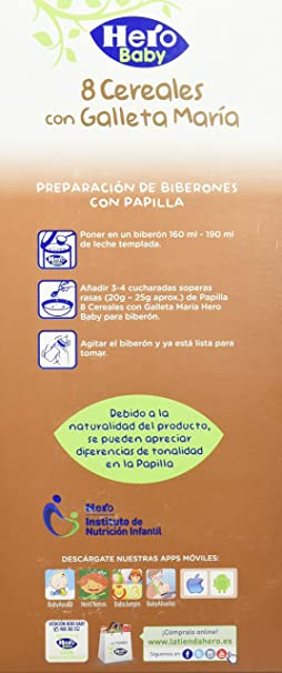 Hero Babynatur - Cereales Con Galleta Maria 1200 g: Amazon.es: Amazon Pantry