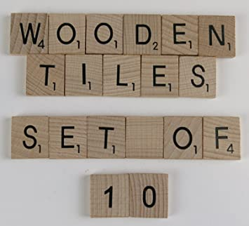 wooden scrabble letters packs of 10 per letter blank amazon co