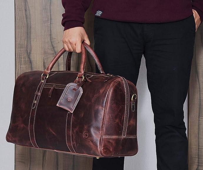 金盒特价 Aaron Leather Goods ASTER II 纯手工制作 行李包 旅行包 7.1折$99.99 两色可选 海淘转运到手约¥915