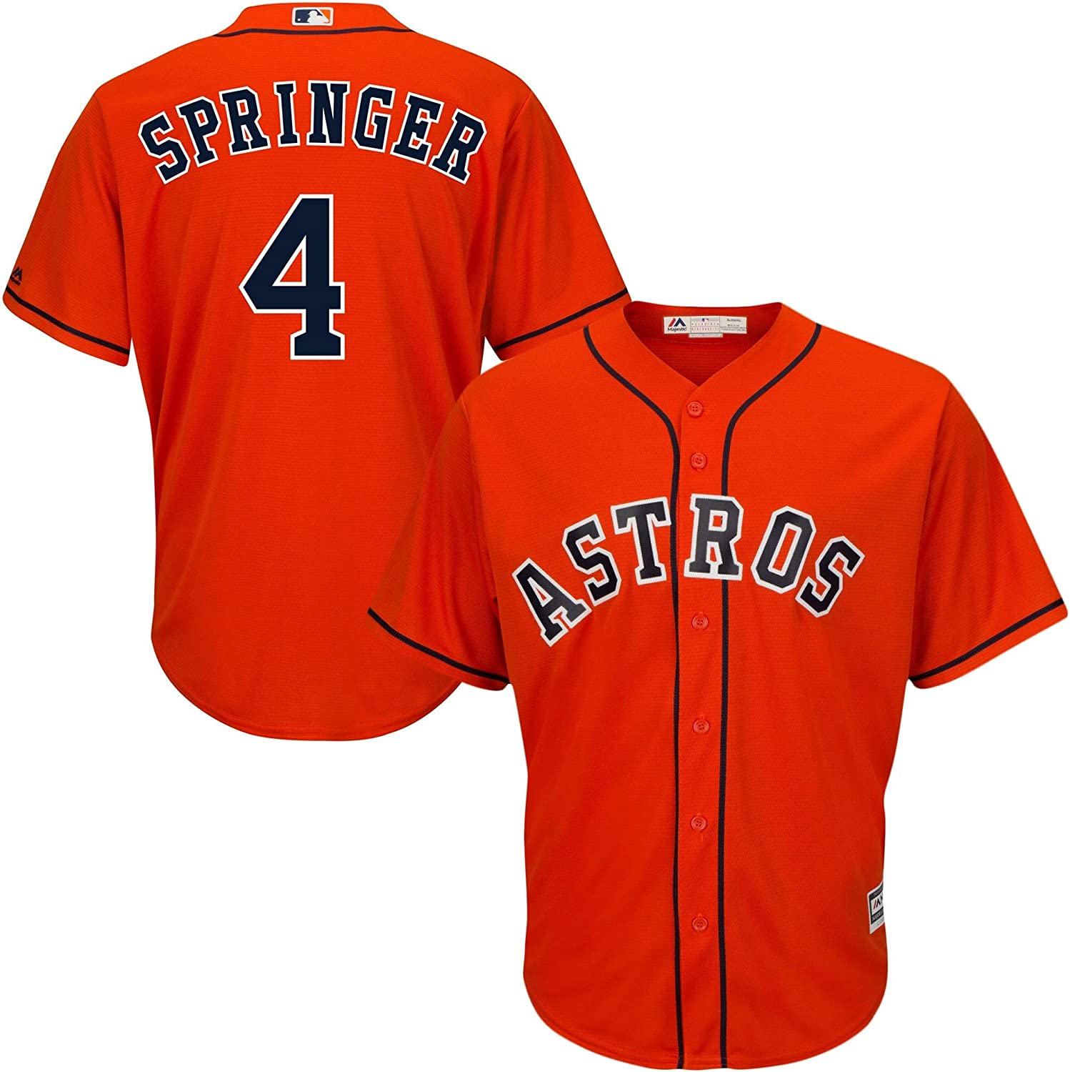 Outerstuff George Springer Astros Youth 8-20 Orange Alternate Cool Base Replica Jersey