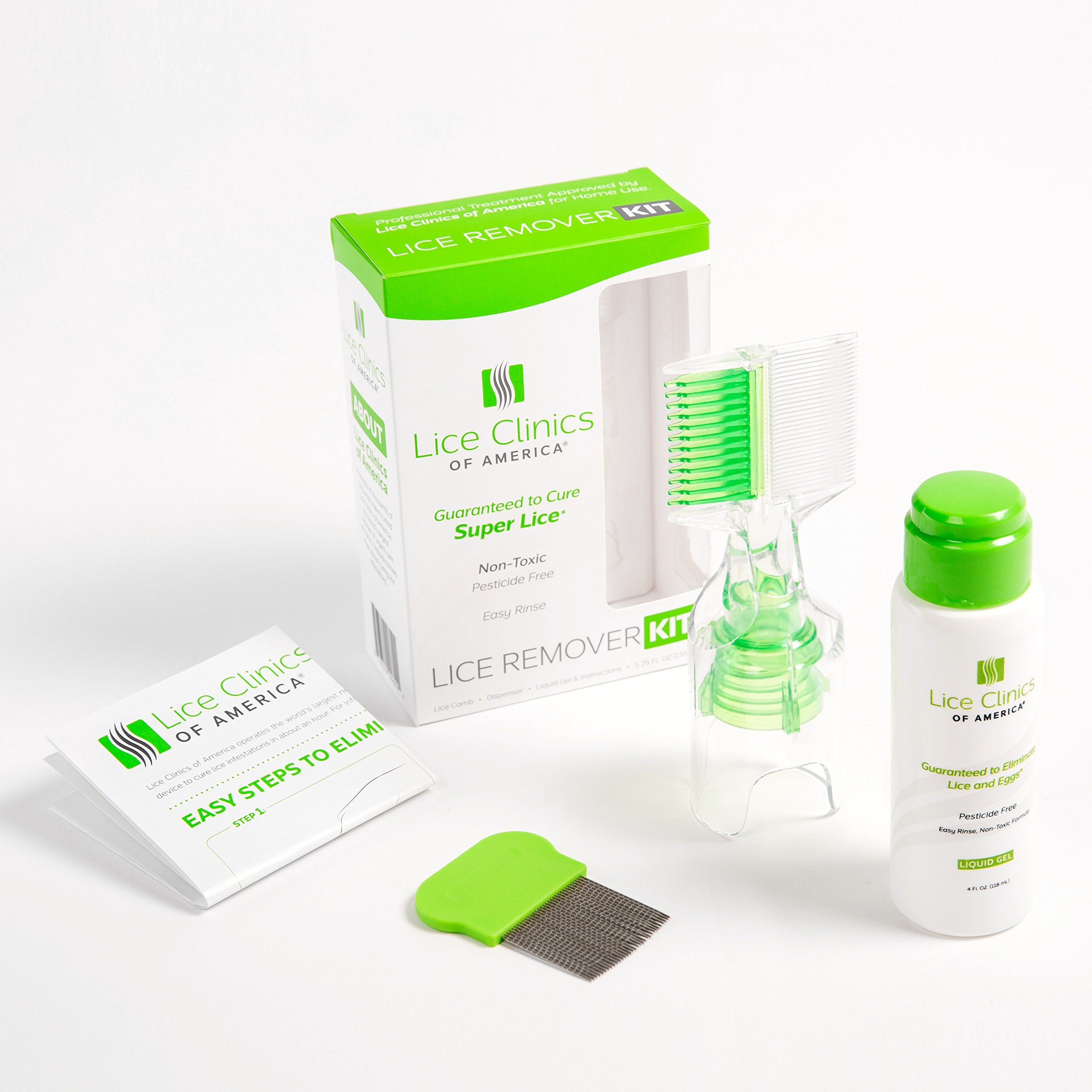 Lice Remover Kit Guaranteed to Cure Lice, Even Super Lice—Safe, Non-Toxic and Pesticide-Free