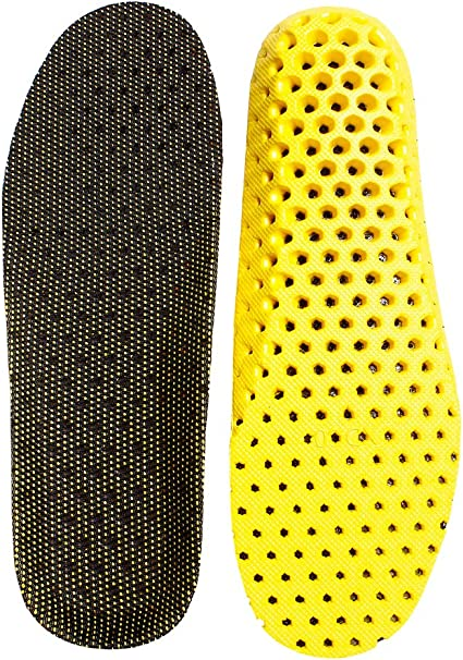 Unisex Breathable Insoles Comfort Basketball Sports Foot Cushion Cut to Size New