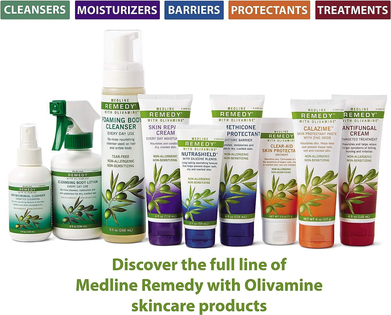 Medline Remedy Olivamine Foaming Body Cleanser, 9 fl. oz.: Health & Personal Care