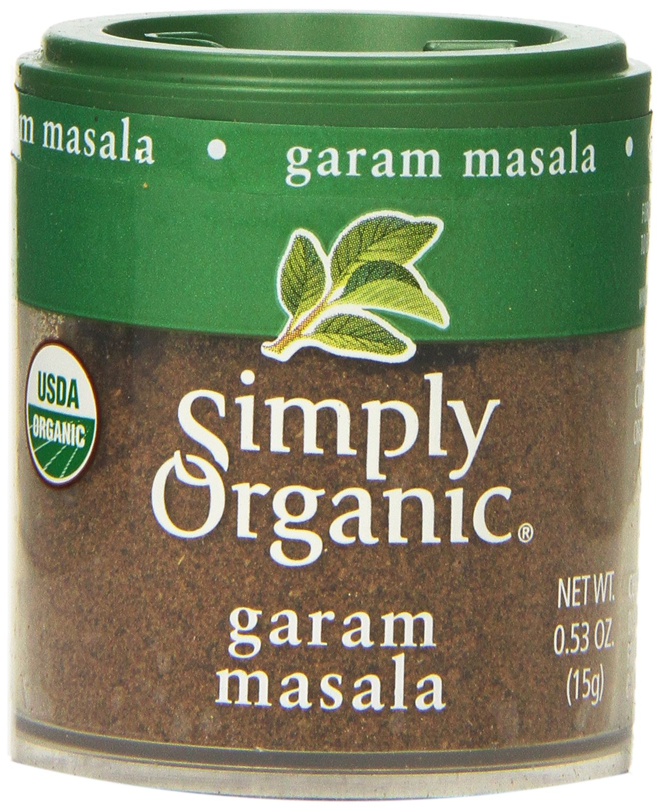 Simply Organic Garam Masala, Mini Spice, 0.53 Ounce (Pack of 6)