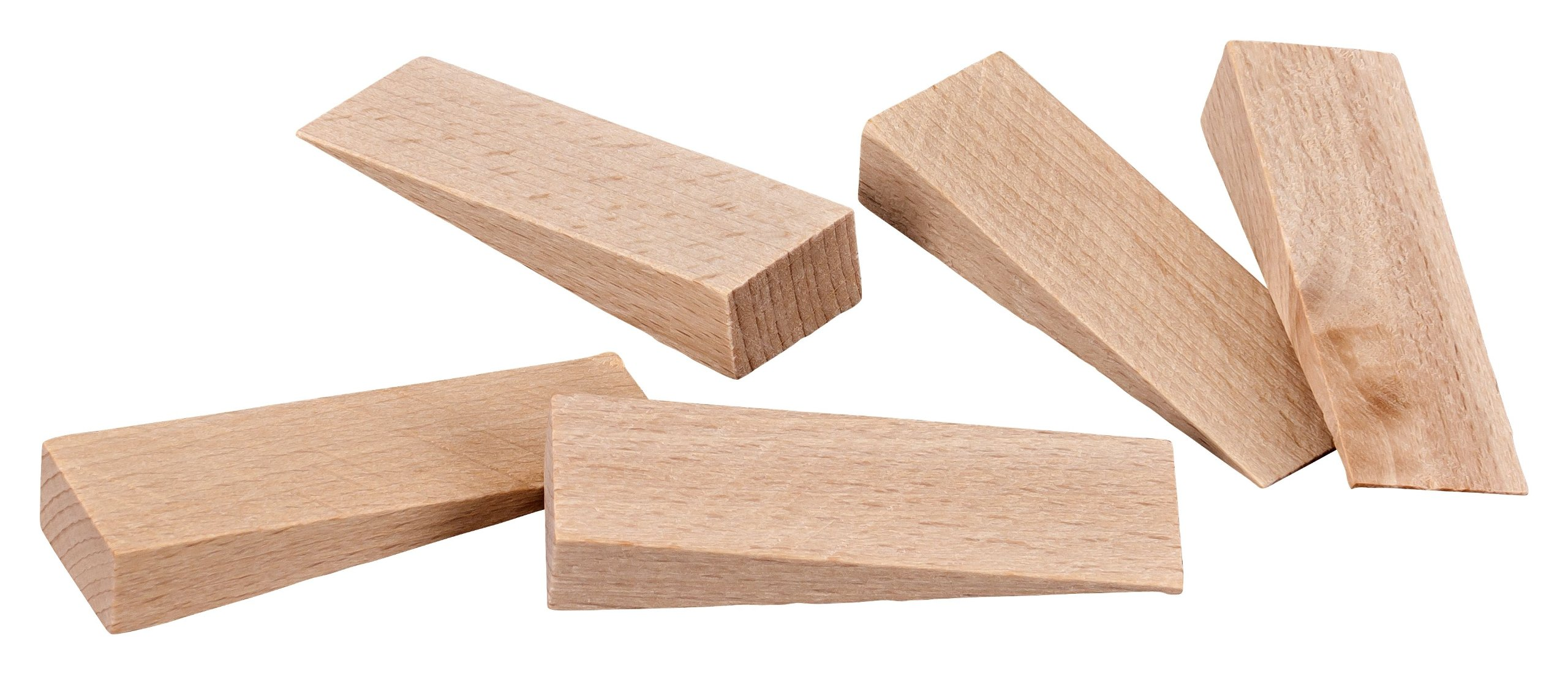haggiy Wood Wedges, Furniture Stabilizer, Door Stopper made of Natural Beech 3.94'' x 1.57'' x 0.98'' (10 Pcs.)