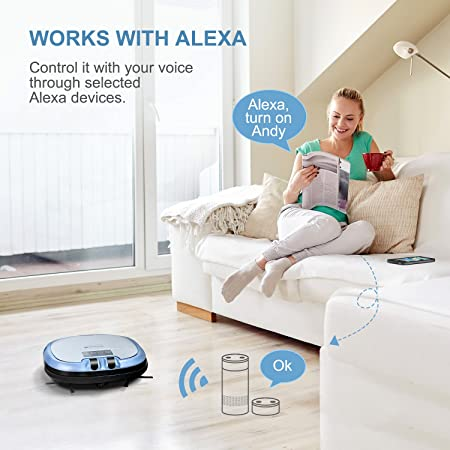 Amazon.com - XShuai C3 Smart Robot Vacuum Cleaner Siri & Alexa Voice Control Camera Video Chat Schedule Cleaning Auto-Charge 5 Cleaning Modes HEPA Filter ...