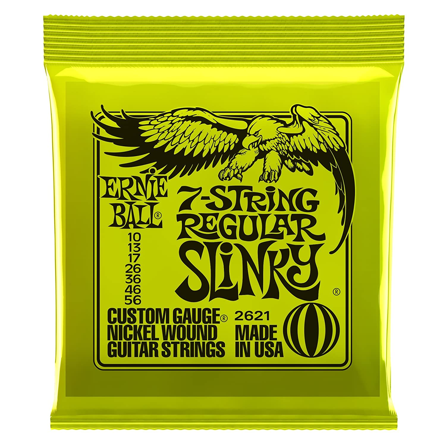 Amazon.com: Ernie Ball 7-String Super Slinky Nickel Wound Set, .009 - .052: Musical Instruments