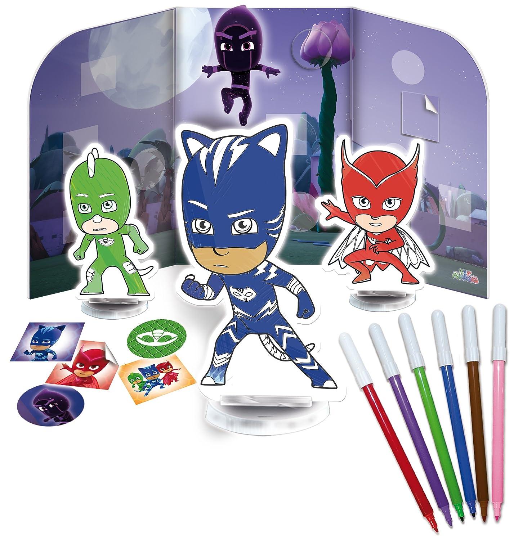 Lisciani Giochi 62904, PJ Masks, Colorea y aprende, los PJ Masks contra Todos los Villanos: Amazon.es: Juguetes y juegos