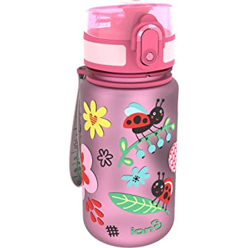 Botella de agua para niños «Ladybugs» de Ion8, a prueba de derrames, libre de BPA, 350 ml