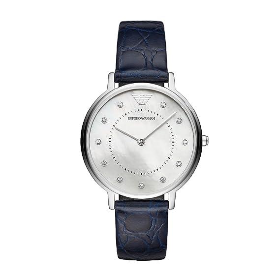 Emporio Armani Reloj Analogico para Mujer de Cuarzo con Correa en Cuero AR11095: Amazon.es: Relojes
