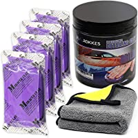 ROKKES Clay Bar Kit Car Detailing Magic Clay Bars 4 Block x100g Mild Auto Claybars with Washing and Adsorption, for Cars Printwork, Automotive Glass, 600GSM Professional Towel Included