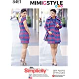 Simplicity Creative Patterns 8451 H5 Mimi G Misses' Dress and Lined Coat, Size 6-14