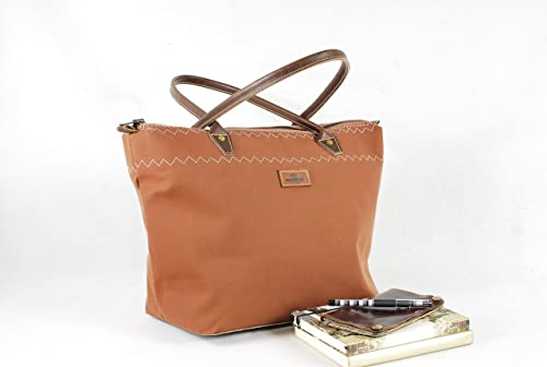 c9ec110a5af3 Amazon.com: Elegant tote bag purse made from canvas & leather #4620 ...