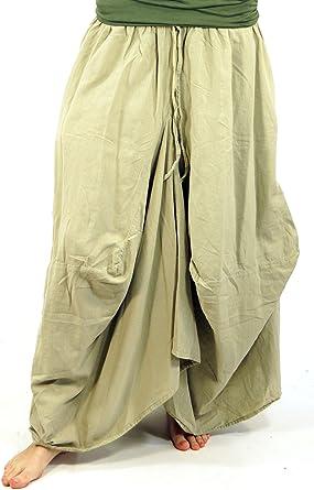 Hippie Rock Aladin Pantalón Rock Flax/larga Faldas blanco 40 ...