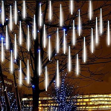 eagwell upgraded meteor lights 20 inches 10 tube 540 leds meteor shower rain lights waterproof - Meteor Christmas Lights