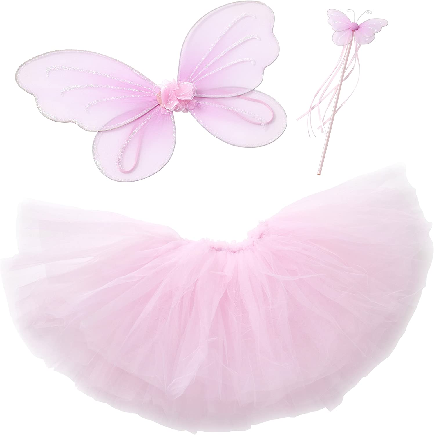 Fairy Princess Tutu Costume Set for Girls Dress up and Ballet Dance