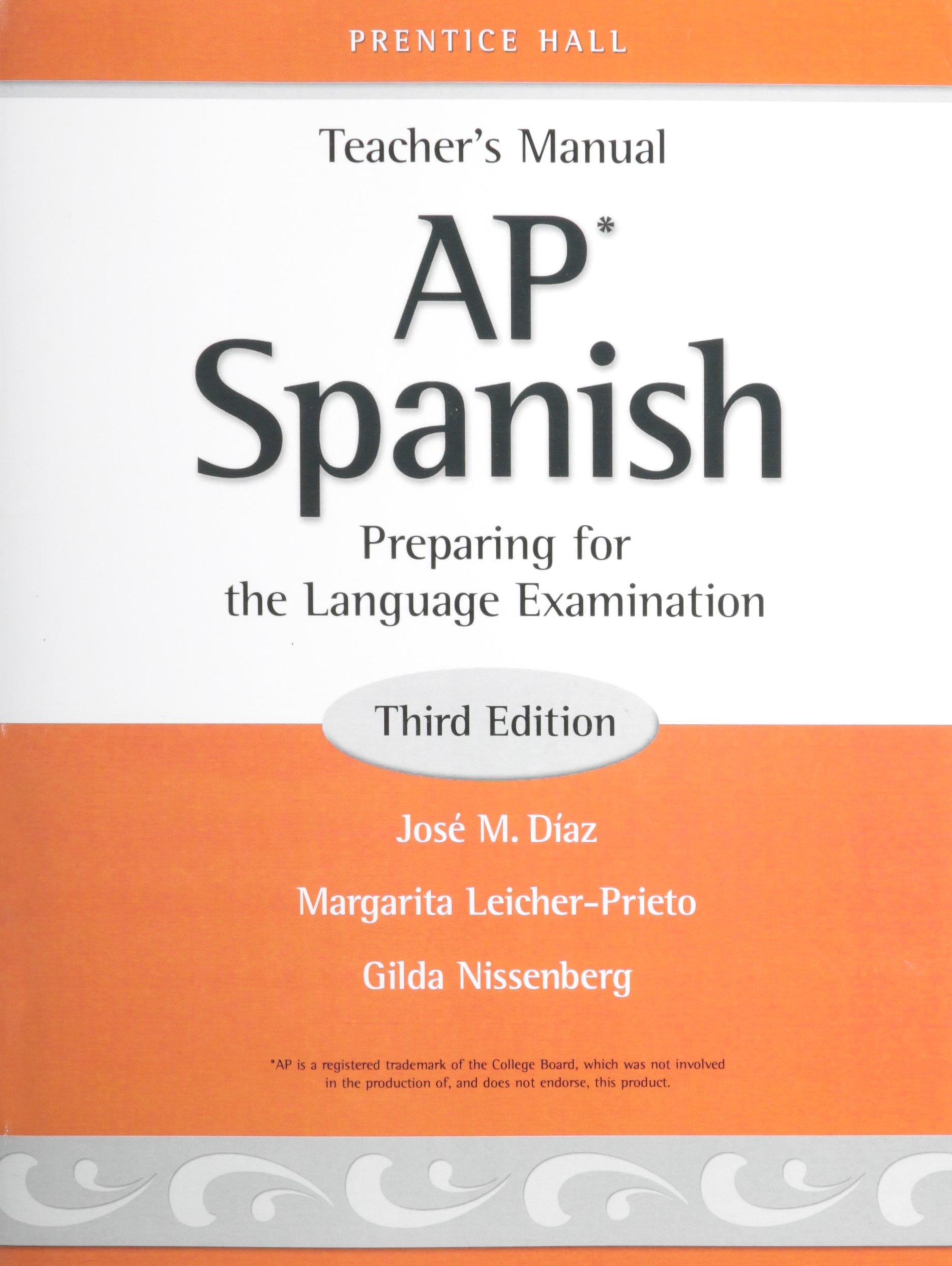 Ap spanish teachers manual pearson prentice hall 9780131660953 ap spanish teachers manual pearson prentice hall 9780131660953 amazon books fandeluxe Image collections