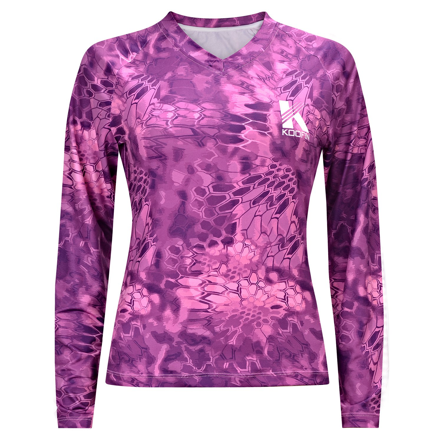 Koofin Women Rash Guard Slim Fit Performance Long Sleeve Shirt Fishing Running Training UV Sun Protection UPF50 Swimsuit Top