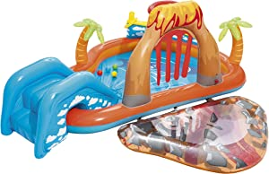 Bestway Lava Inflatable Play Center | Includes Play Balls, Ball Ramp, Ring Toss Game, Water Blob,