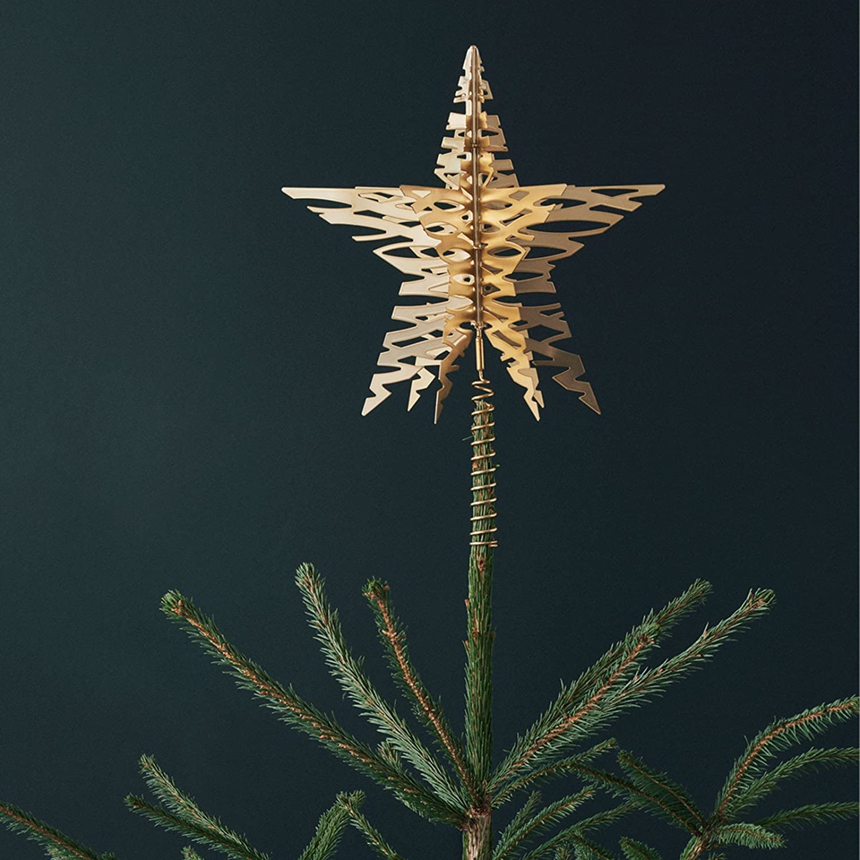 Stelton Tangle Weihnachtsbaum Star Messing