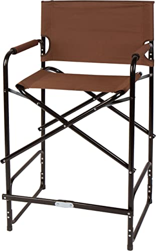 Trademark Innovations 43 Steel Folding Tall Director s Chair Brown