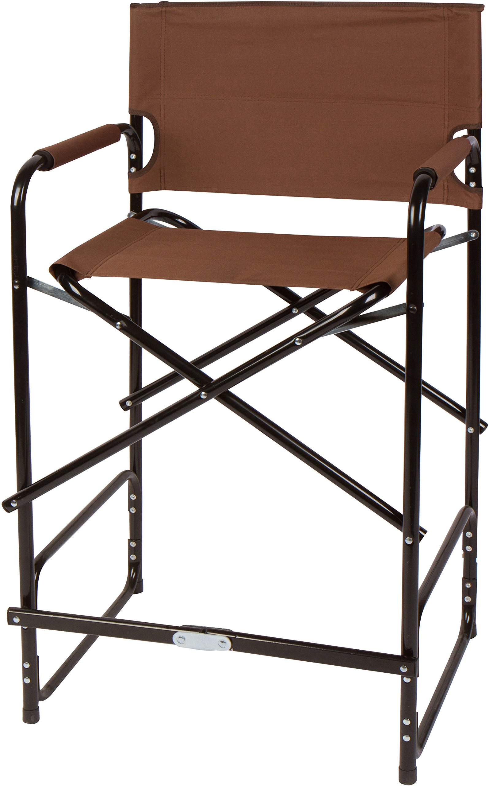 Trademark Innovations 43'' Steel Folding Tall Director's Chair (Brown)