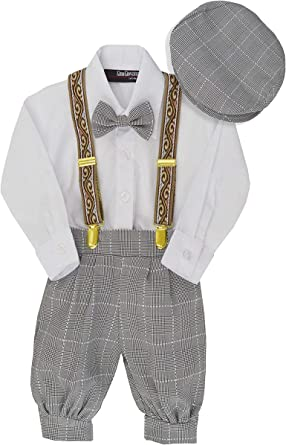 Infants /& Boys Size Kids Formal Outfits Toddlers NEW Boys Grey Knicker Sets