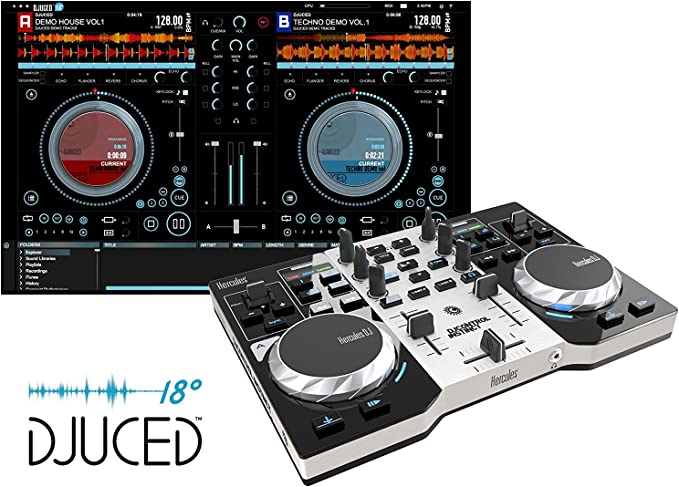 Hercules DJ Controller Instinct S Series (LED Party Light USB, djuced 18 grados): Hercules: Amazon.es: Instrumentos musicales