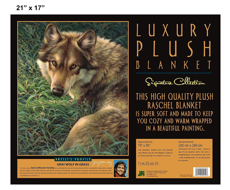 Gray Wolf Blanket