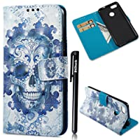 Case For HUAWEI Y6 Pro 2017/P9 Lite Mini,BtDuck Clear Leather Wallet Case For HUAWEI Y6 Pro 2017/P9 Lite Mini,3D Fantasy Painted Stand Flip Magnetic Case With Cards Holder For Pretty Girl Blue Dreamcatcher Never Stop Dreaming Gray Owl Rose red Butterfly Golden Purple Red Orchid Stay Beautiful Pink Unicorn Skull Packing listing: 1 x HUAWEI Y6 Pro 2017/P9 Lite Mini case + 1 x Black touch pen