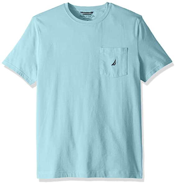 8bbb50c7 Image Unavailable. Image not available for. Color: Nautica Men's Solid Crew  Neck Short Sleeve Pocket T-Shirt ...