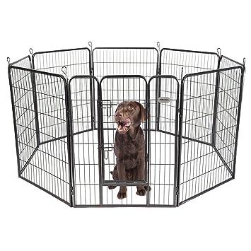 PetPremium Dog Pen Metal Fence Gate Portable Outdoor RV Play Yard | Heavy  Duty Outside Pet