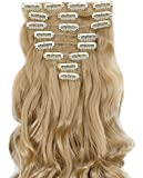 s-noilite – Hot Fashion 43,2 cm Curly clip in Hair extensions Full Head 8PCS Hairpiece
