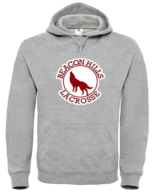 Teen Wolf Beacon Hills Lacrosse Stilinski 24 Sudadera Con Capucha Hoodie S4 (L, Gris