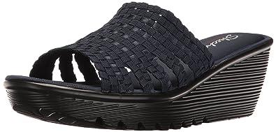 dc6eff80c03 Skechers Cali Women s Parallel-Morning Stretch Wedge Sandal