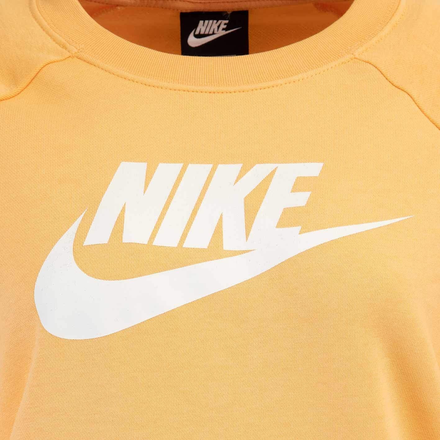Nike Essential HBR Fleece Women Sweater Sweatshirt Orange/White