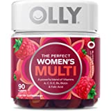 OLLY Women's Multivitamin Gummy, Overall Health and Immune Support, Vitamins A, D, C, E, Biotin, Folic Acid, Adult Chewable V